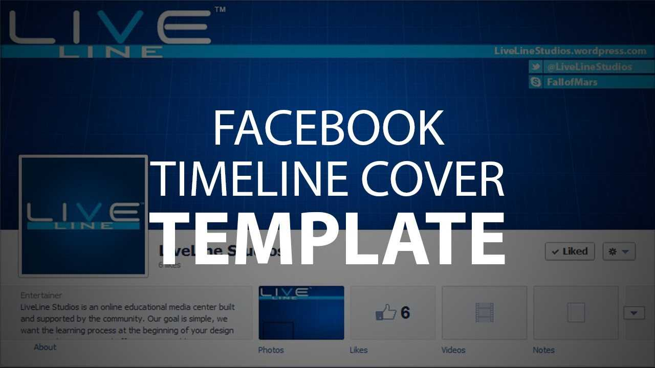 Photoshop Template: Facebook Timeline Cover (Psd File) For Photoshop Facebook Banner Template