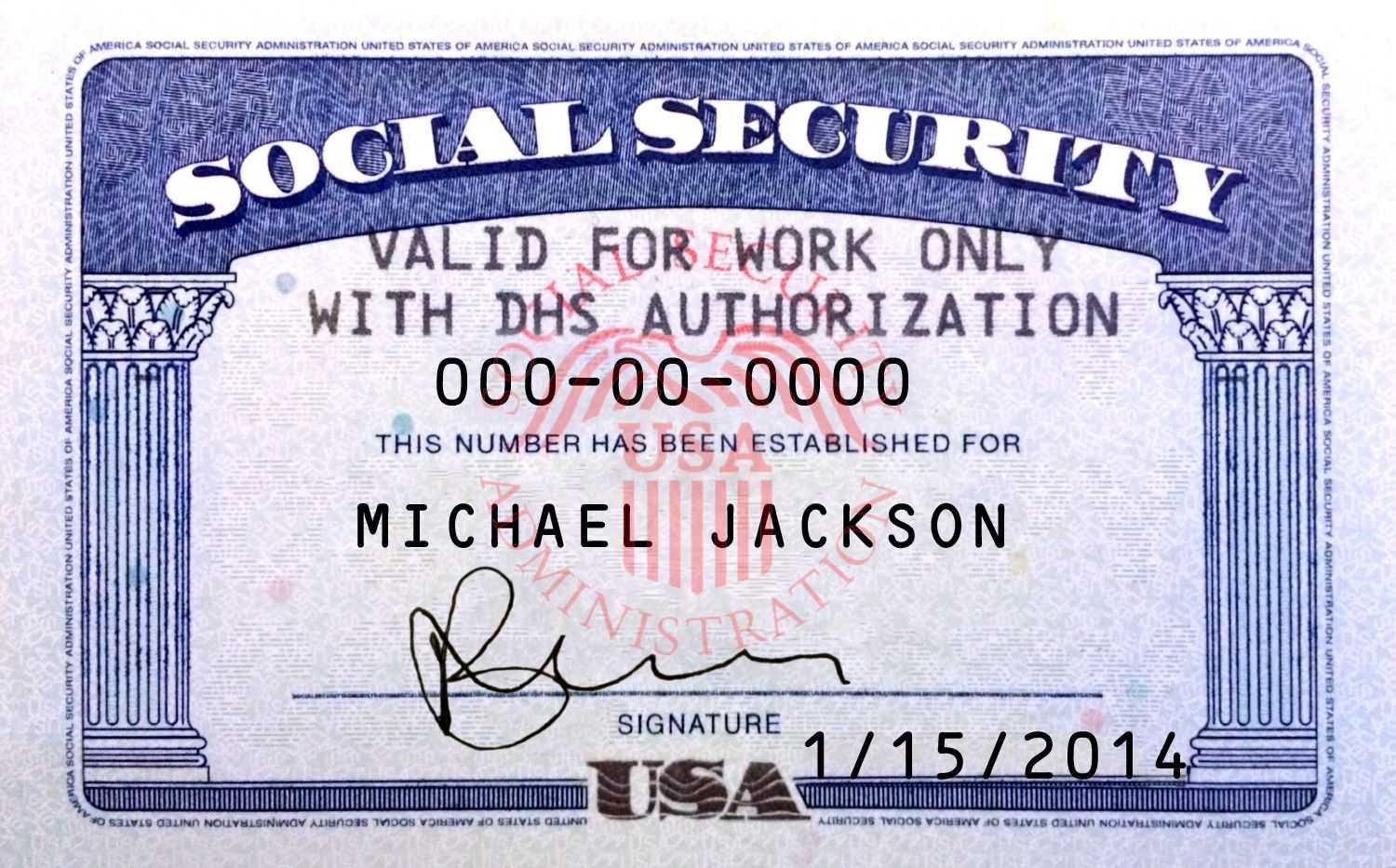 Pin On Novelty Psd Usa Ssn Template With Social Security Card Template Psd