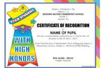 Pinjomareguid On School | Certificate Of Recognition inside School Certificate Templates Free