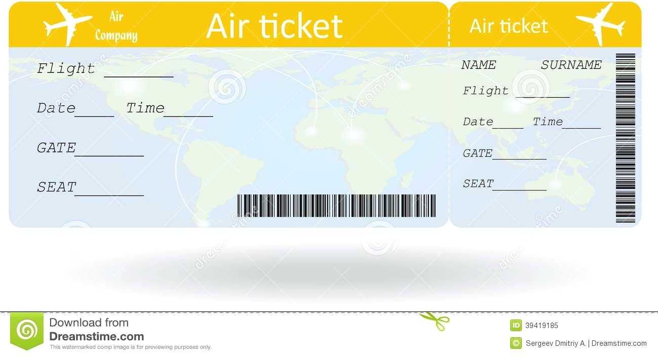 Pinpat Zema On French | Ticket Template, Ticket Template within Plane Ticket Template Word