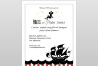 Pirates And Pixies Dance Flyer And Ticket Template Set | Pta regarding Dance Flyer Template Word