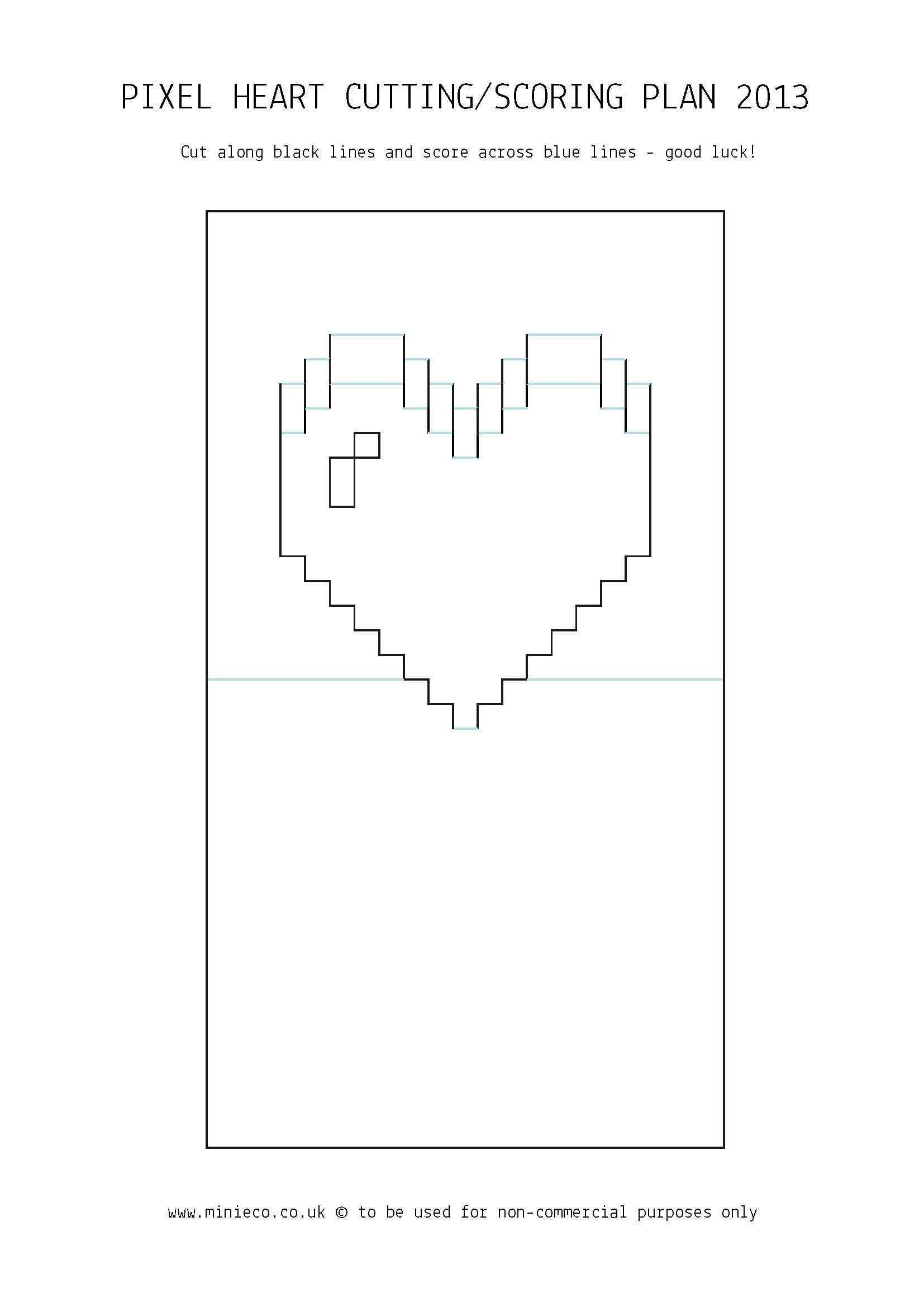 Pixel Heart Pop Up Card | Pop Up Card Templates, Heart Pop Throughout Pop Out Heart Card Template