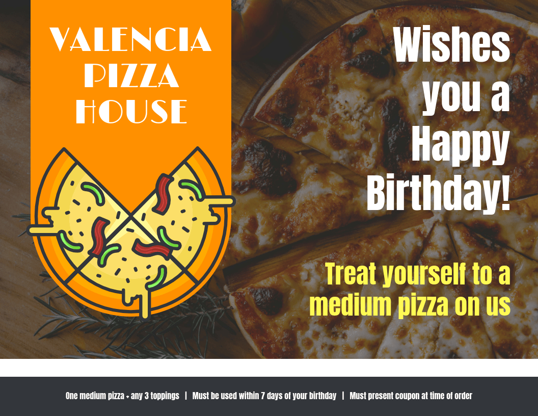 Pizza Voucher Template In Pizza Gift Certificate Template