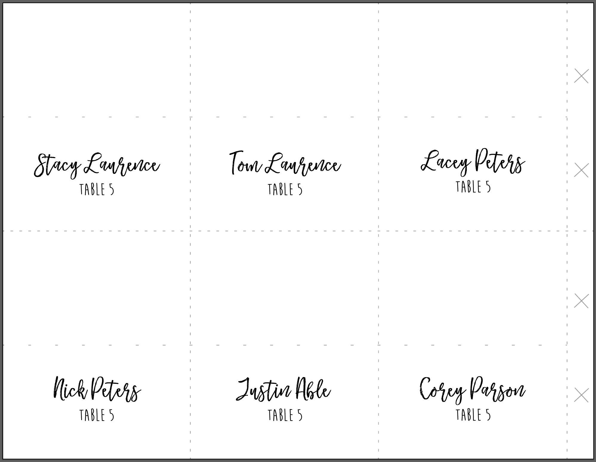 Placement Cards Template - Major.magdalene-Project with regard to Amscan Templates Place Cards