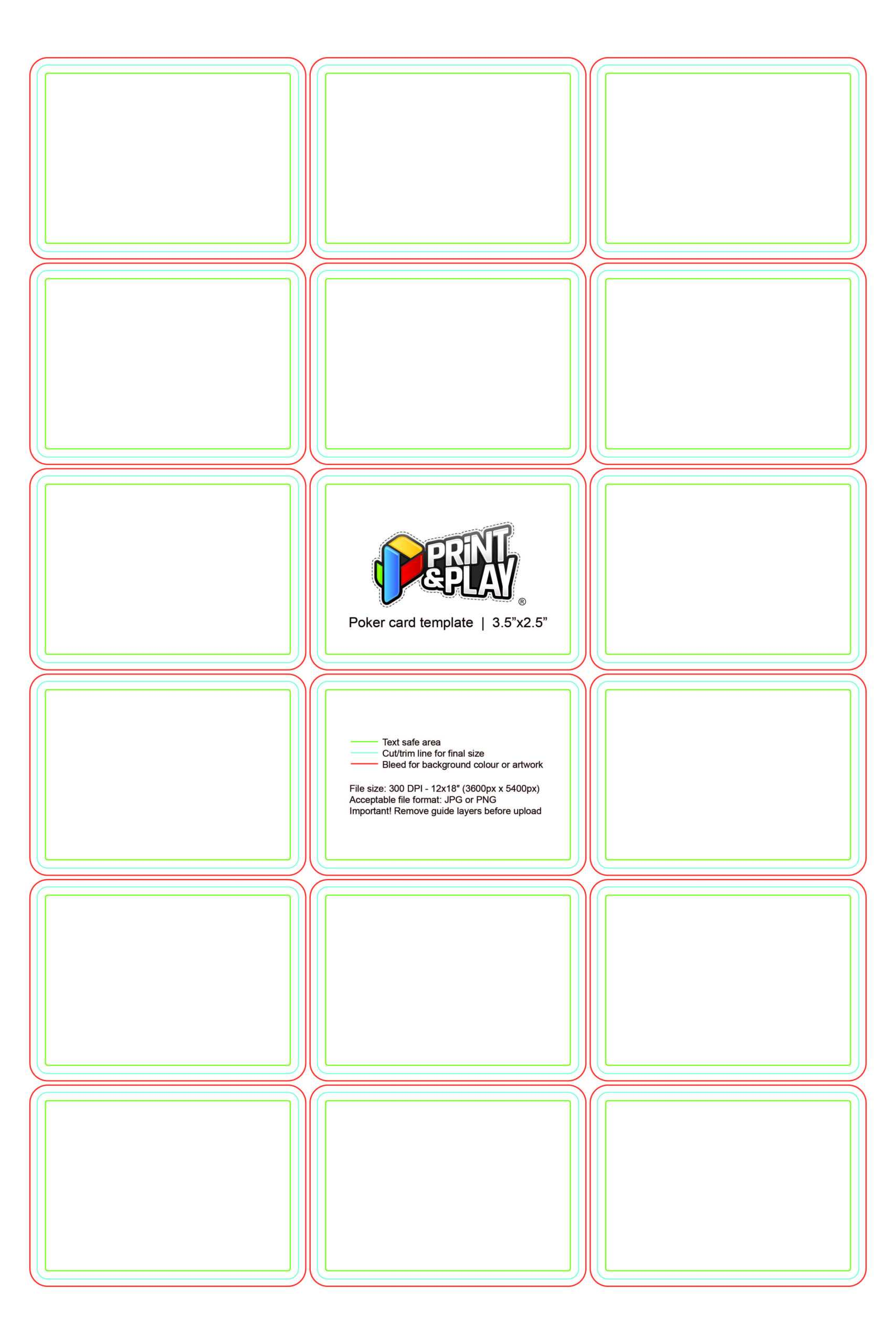 Playing Cards : Formatting & Templates - Print & Play With Regard To Playing Card Template Illustrator
