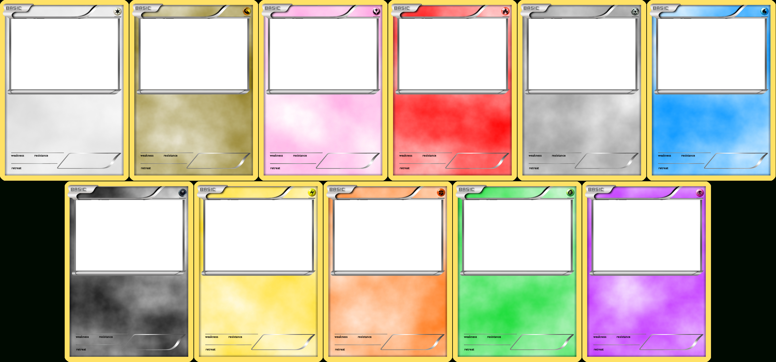 Pokemon Blank Card Templateslevelinfinitum.deviantart intended for Trading Cards Templates Free Download