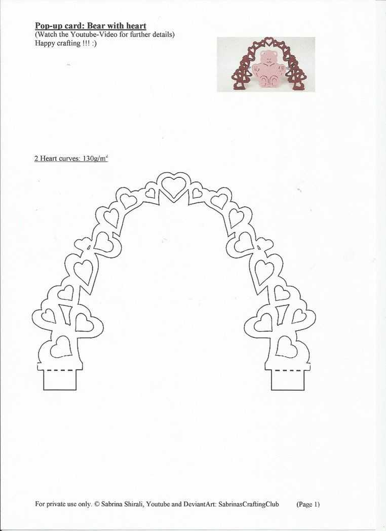 Pop Up Card Bear: Page 1Sabrinascraftingclub On In Pop Up Wedding Card Template Free