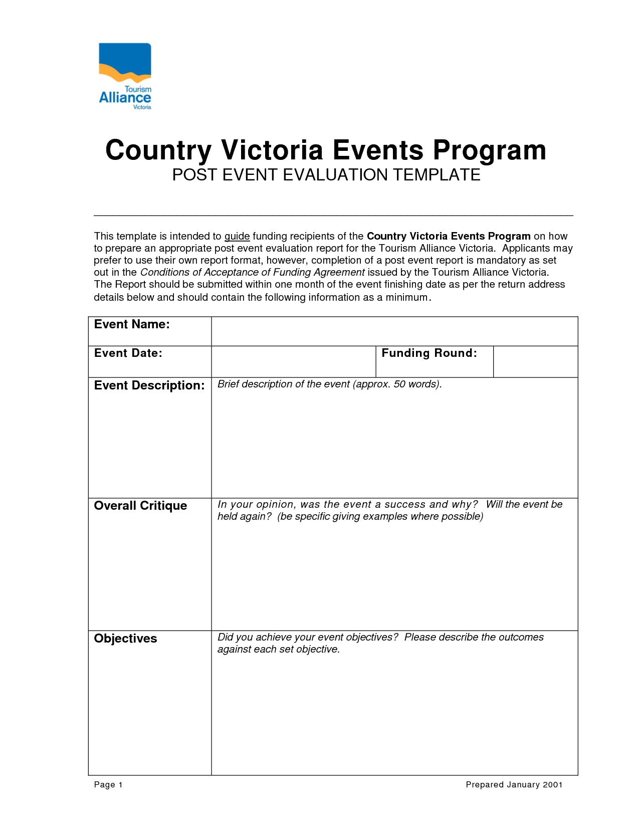 Post Event Evaluation Report Template Within Post Event Evaluation Report Template