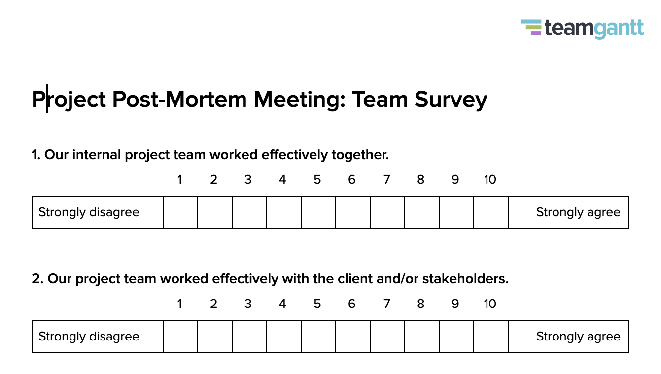 Post-Mortem Meeting Template And Tips | Teamgantt for Autopsy Report Template