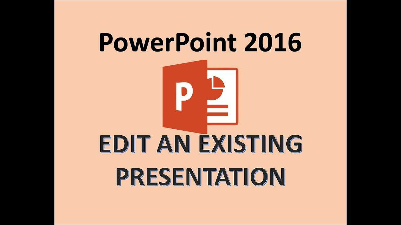 Powerpoint 2016 - Edit A Powerpoint Presentation - How To Edit Ppt Slides,  Editing In Ms Power Point regarding How To Edit A Powerpoint Template