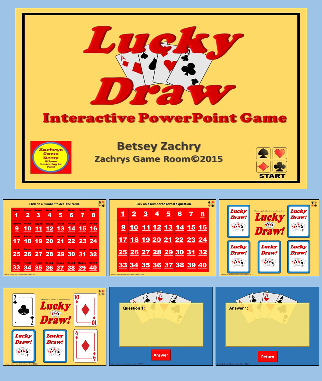 Powerpoint Game Template - Lucky Draw Interactive Game with regard to Powerpoint Template Games For Education