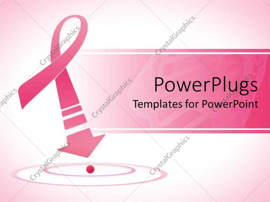 Powerpoint Template: Breast Cancer Awareness Pink Ribbon regarding Free Breast Cancer Powerpoint Templates