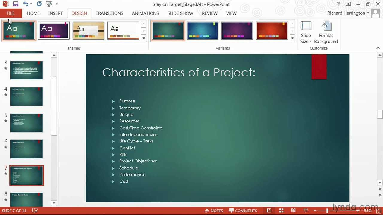 Powerpoint Tutorial: How To Change Templates And Themes | Lynda For How To Edit Powerpoint Template