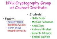Ppt – Nyu Cryptography Group At Courant Institute Powerpoint In Nyu Powerpoint Template
