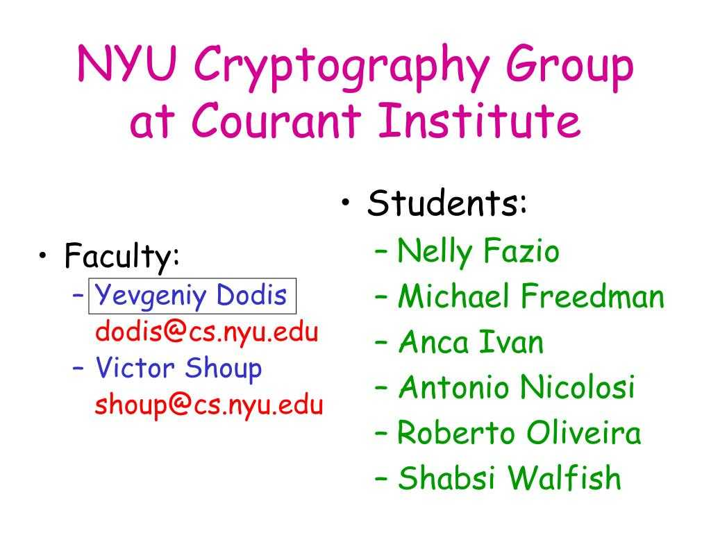 Ppt - Nyu Cryptography Group At Courant Institute Powerpoint in Nyu Powerpoint Template