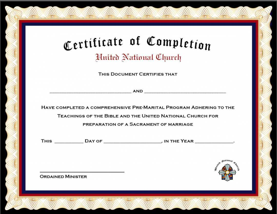 Premarital Counseling Certificate Template   Emetonlineblog with Premarital Counseling Certificate Of Completion Template