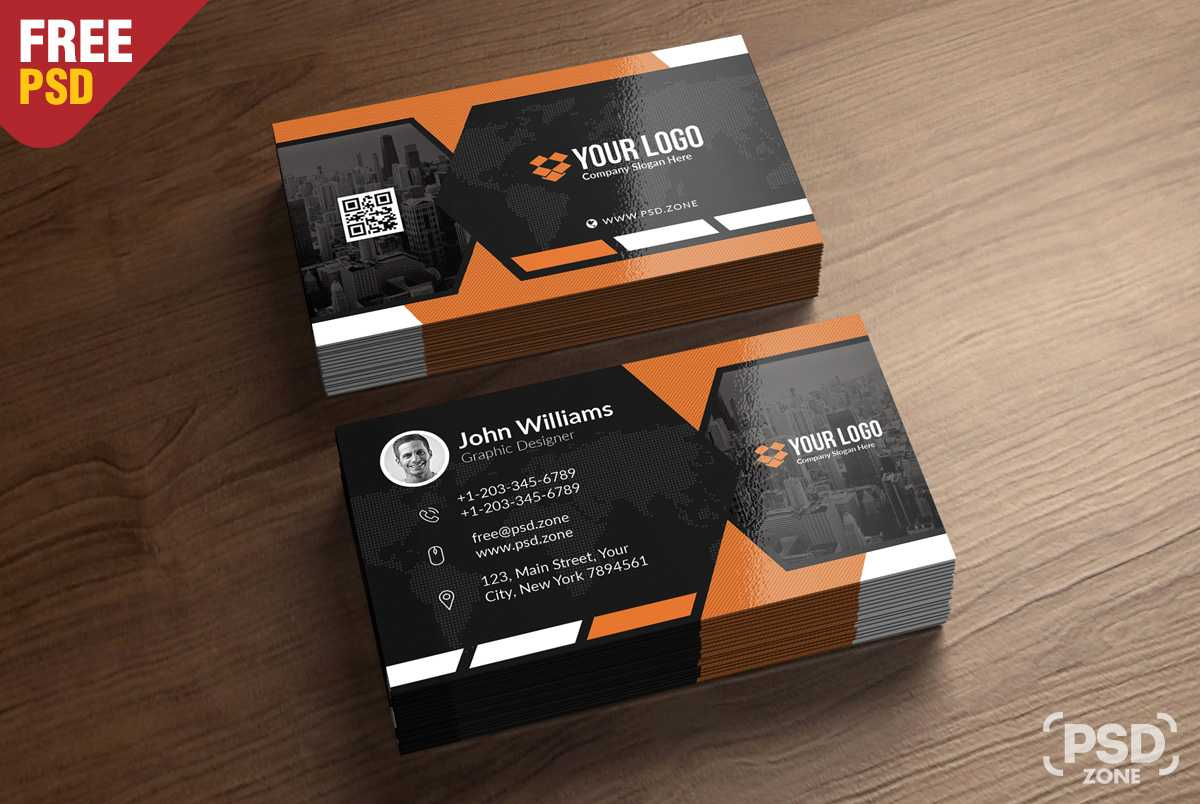Premium Business Card Templates Free Psd - Psd Zone pertaining to Free Psd Visiting Card Templates Download