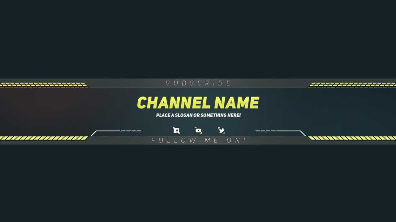 Premium Youtube Banner Template - Photoshop Template Within Banner Template For Photoshop