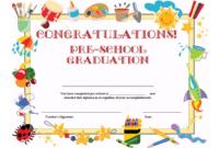 Preschool Graduation Certificate Template Free | Graduation regarding School Certificate Templates Free