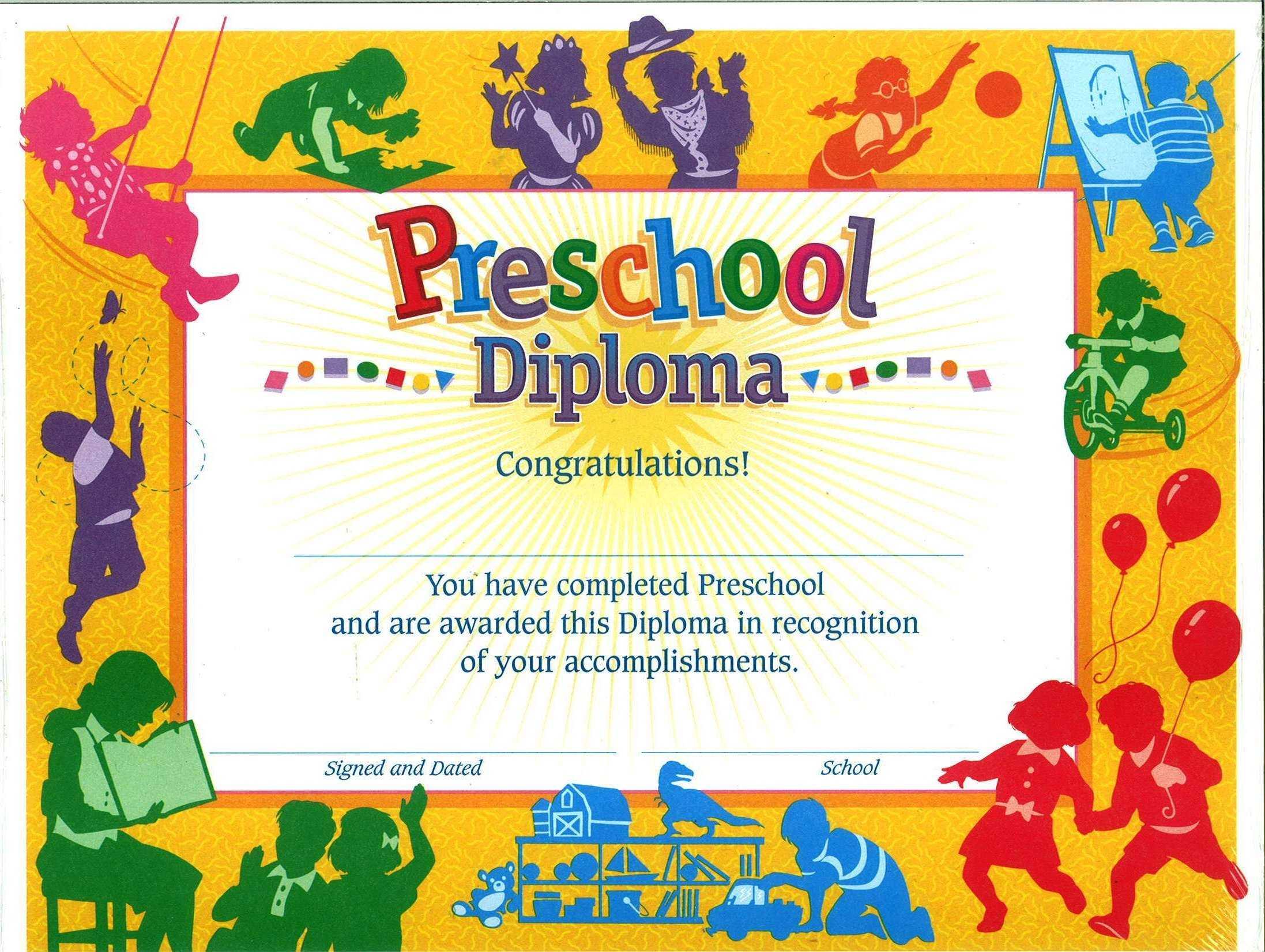 Preschool Graduation Diploma Free Printable   Free Printable with Free Printable Graduation Certificate Templates