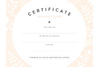 Pretty Fluffy regarding Blank Adoption Certificate Template