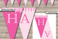 Princess Party Banner Template – Pink throughout Diy Birthday Banner Template