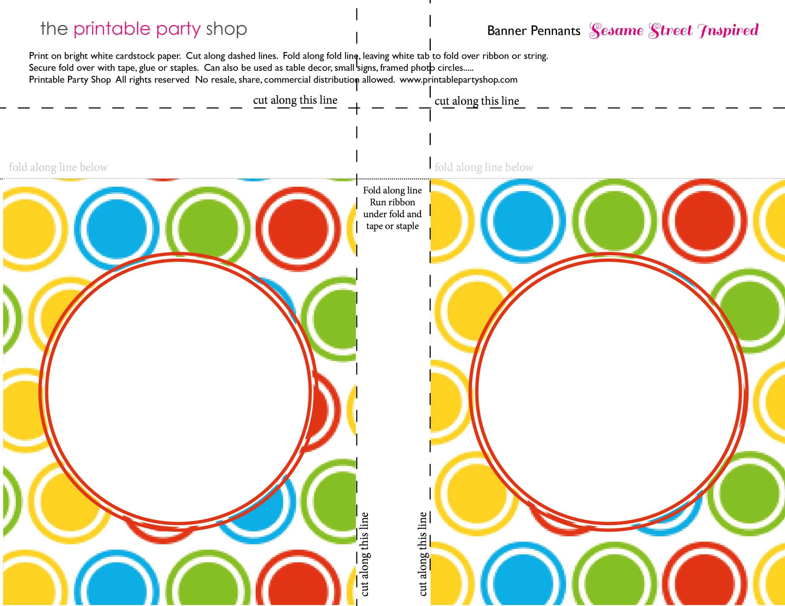 Printable Banners Templates Free | Banner Squares Big Dots Regarding Sesame Street Banner Template