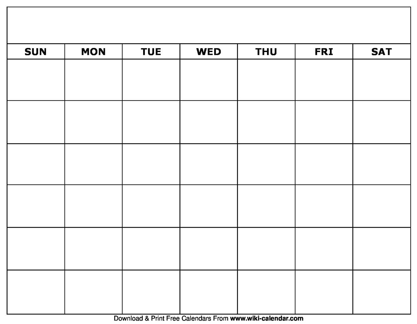 Printable Blank Calendar Templates For Blank Calander Template