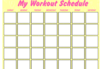 Printable Blank Workout Schedule | Templates At Throughout Blank Workout Schedule Template