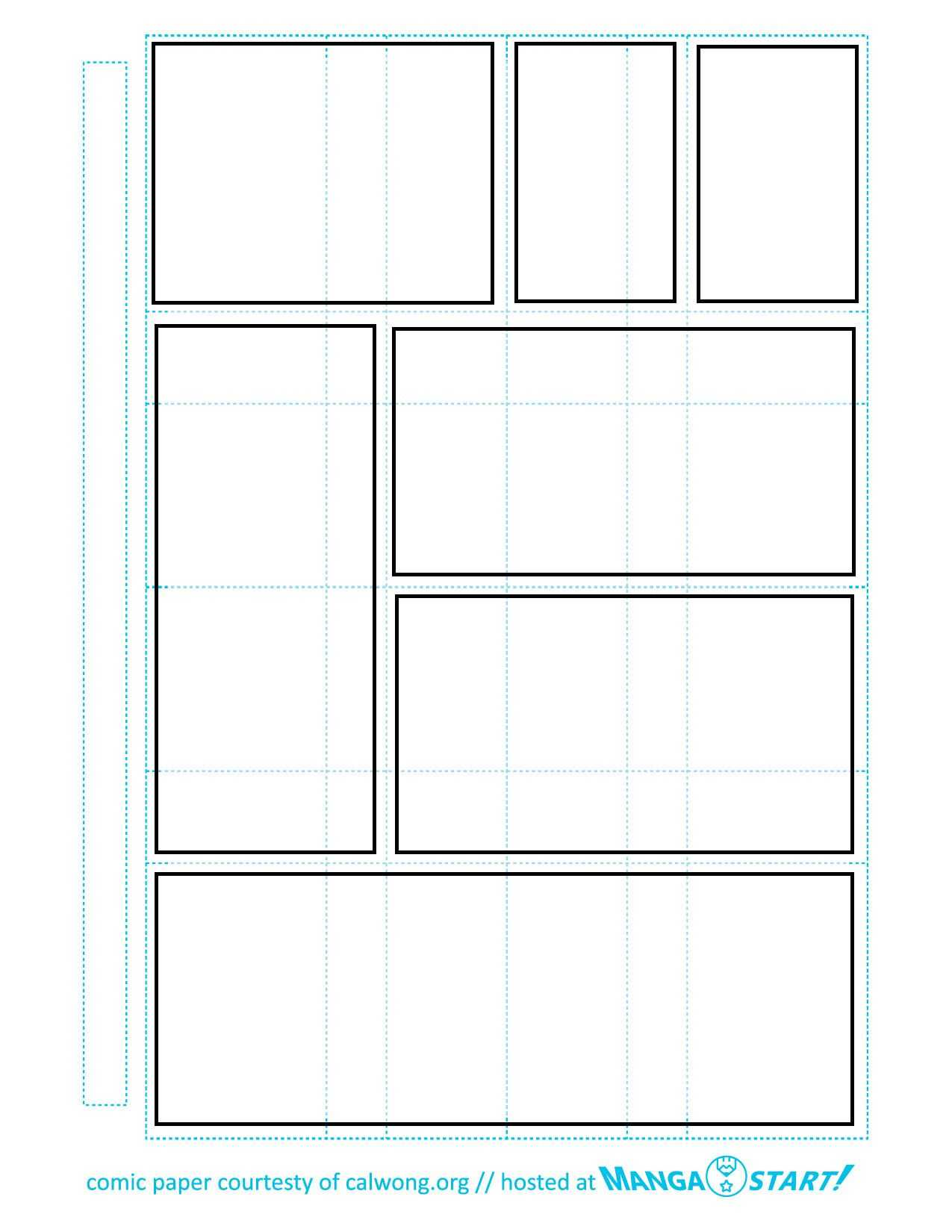 Printable Comic Strip Paper In 2019 | Comic Book Layout in Printable Blank Comic Strip Template For Kids