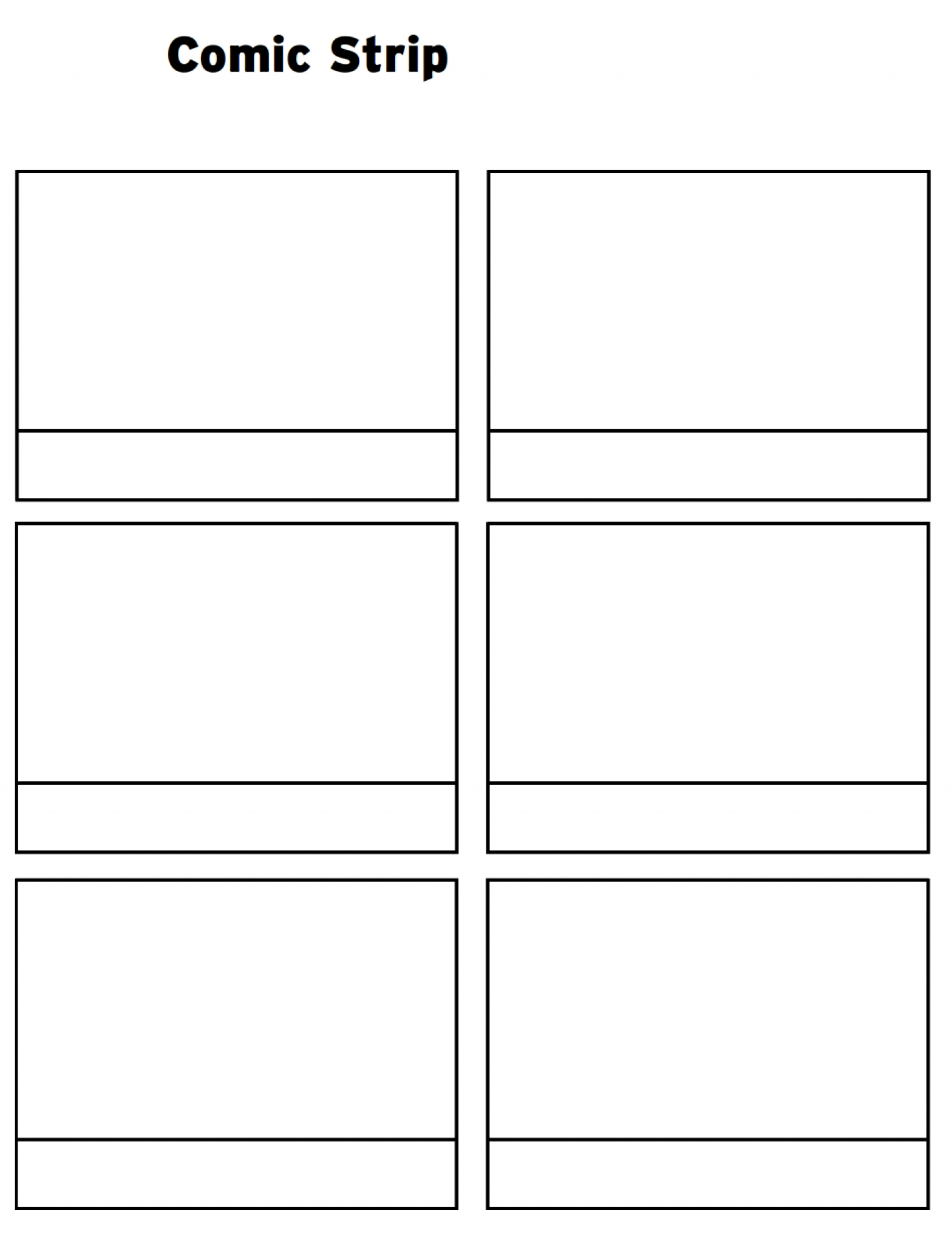 Printable Comic Strip Template Pdf Word Pages | Printable regarding Printable Blank Comic Strip Template For Kids