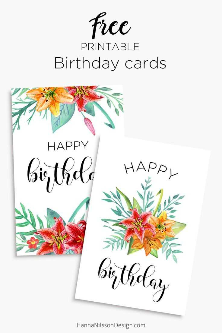 Printable Floral Birthday – Cards, Tags & Gift Box | Cards with Mom Birthday Card Template