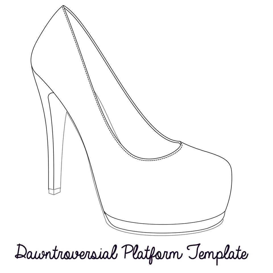 Printable High Heel Stencil Best Photos Of <B>High Heel For High Heel Template For Cards
