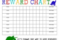 Printable Reward Chart – The Girl Creative in Blank Reward Chart Template