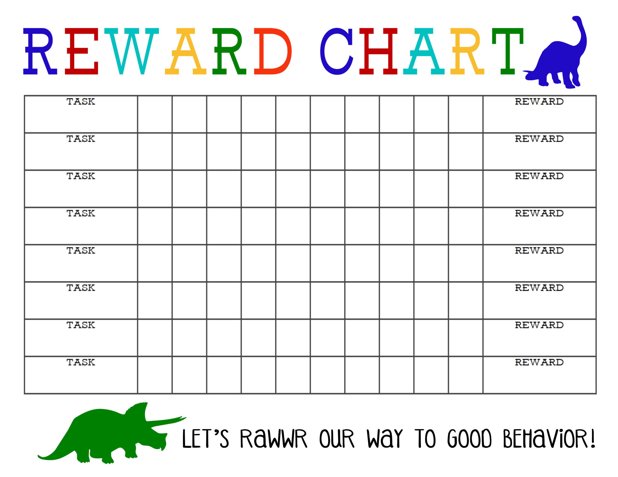 Printable Reward Chart - The Girl Creative in Blank Reward Chart Template