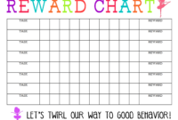 Printable Reward Chart – The Girl Creative intended for Blank Reward Chart Template