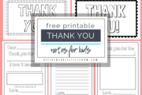 Printable Thank You Cards For Kids – The Kitchen Table Classroom inside Thank You Note Cards Template