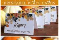 Printable Thanksgiving Place Card | Thanksgiving Place Cards in Thanksgiving Place Card Templates