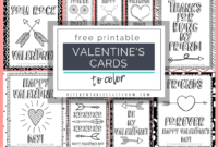 Printable Valentine Cards To Color – The Kitchen Table Classroom intended for Valentine Card Template For Kids