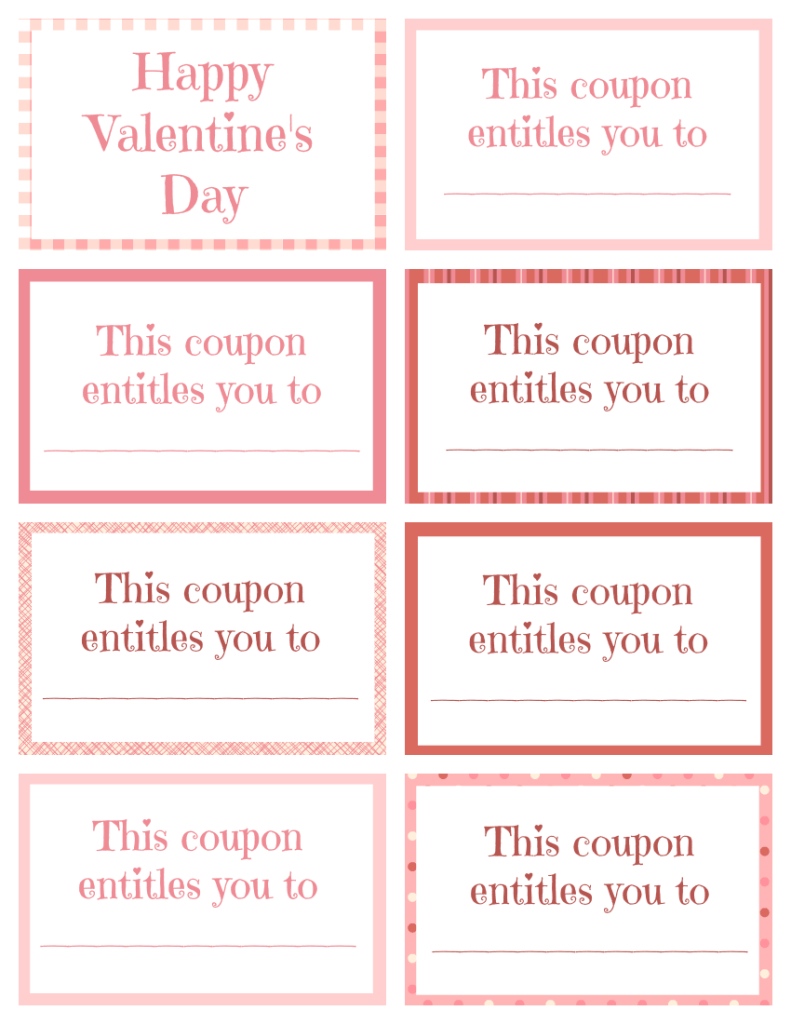 Printable Valentine Coupon Book Blank | Coupon Template In Blank Coupon Template Printable
