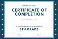 Printed Certificates With 5Th Grade Graduation Certificate for 5Th Grade Graduation Certificate Template