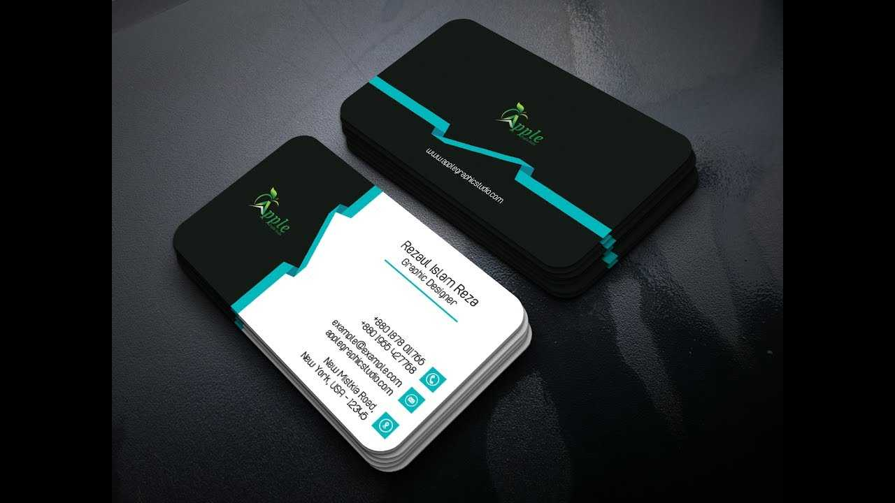 Professional Business Card Templates Design - Photoshop Tutorial Within Photoshop Name Card Template