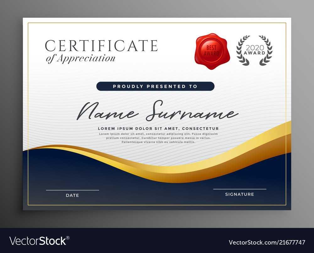 Professional Diploma Certificate Template Design within Professional Award Certificate Template