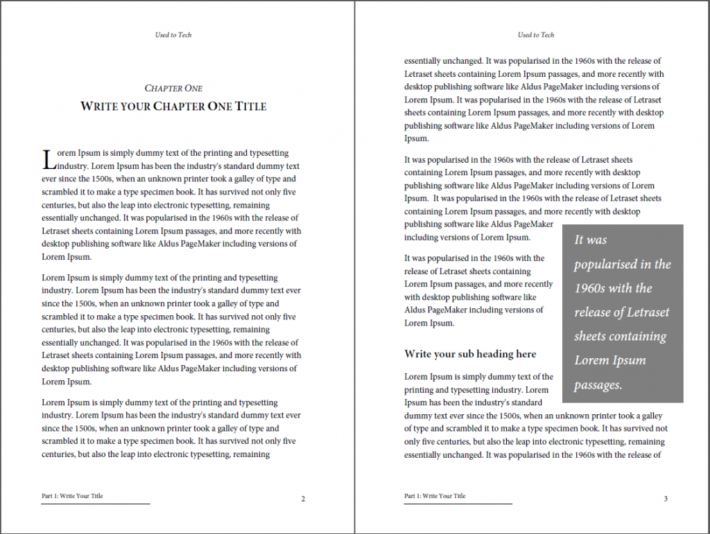 Professional Looking Book Template For Word, Free - Used To Tech Intended For 6X9 Book Template For Word