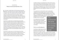 Professional Looking Book Template For Word, Free – Used To Tech With Regard To How To Create A Book Template In Word