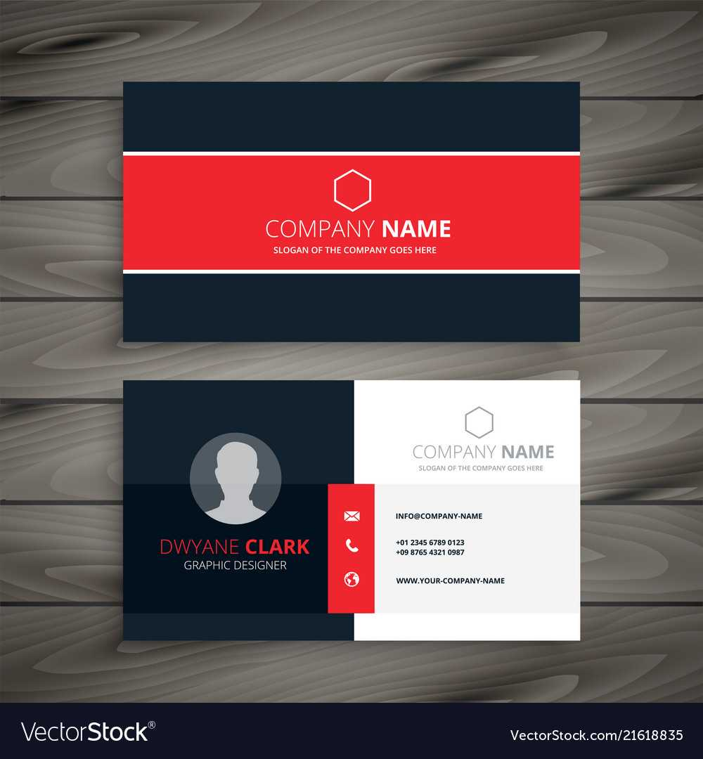 Professional Red Business Card Template Regarding Professional Name Card Template