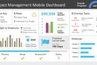Project Management Dashboard Powerpoint Template intended for Project Weekly Status Report Template Ppt