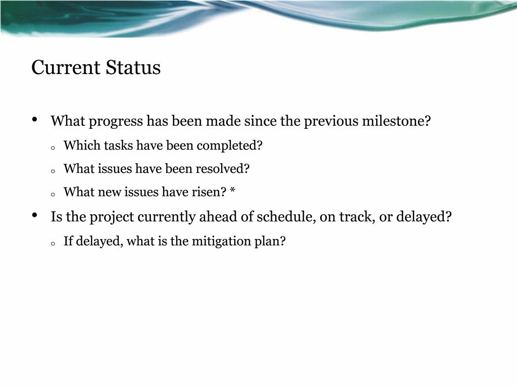 Project Status Report Presentation Template For Powerpoint with Project Status Report Template Word 2010