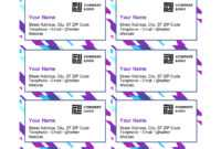 Purple Graphic Business Cards with Ms Word Business Card Template