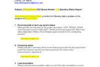 Queue Management Quarterly Status Report Template regarding It Management Report Template